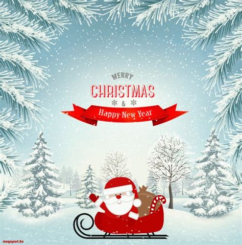 Merry Christmas and Happy New Year (GIF animated ecard