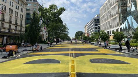 WATCH: DC city workers paint GIANT Black Lives Matter