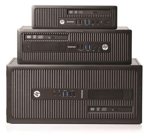 HP EliteDesk 800 G1 Tower, SFF and USDT in horizontal mode